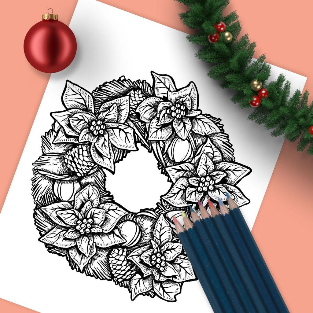 Christmas Wreath Drawing Sean M Geyer