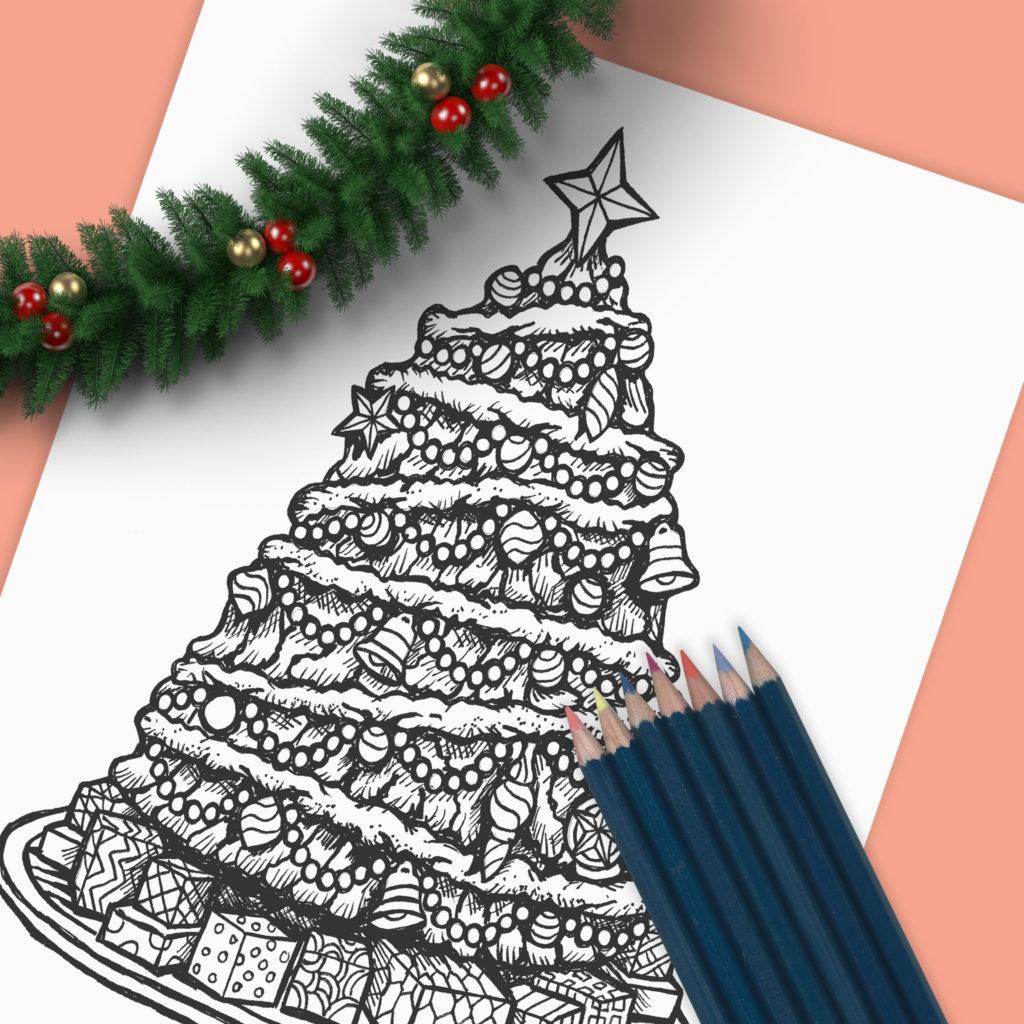 Christmas Tree - Drawing - Sean Geyer